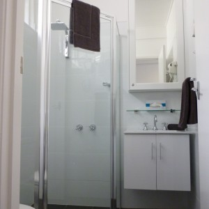 New bathrooms with rain shower